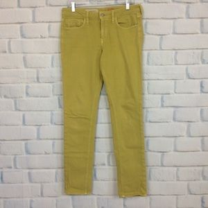 Anthropologie Pilcro Stet Lime Green Skinny Jeans